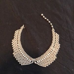 Vintage 30's faux pearl collar